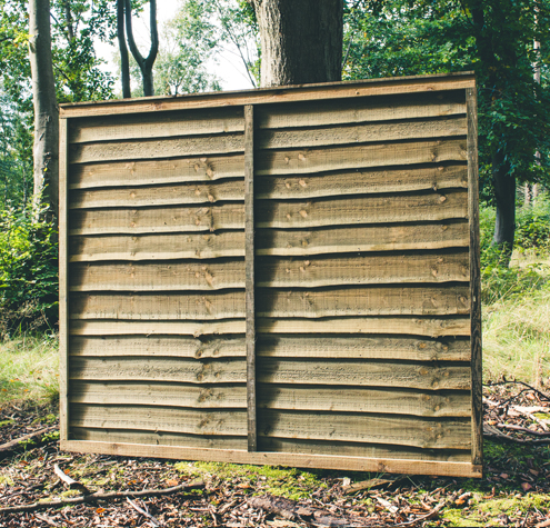Super Waney Lath Fence Panels